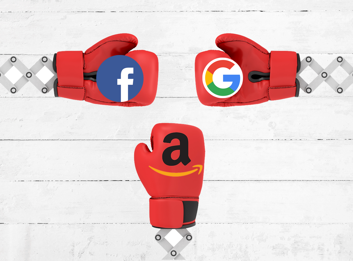 Tra Facebook e Google si infila Amazon